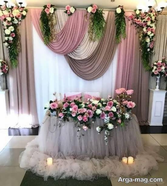 انواع نمونه های زیبا و منحصر به فرد تزیین جایگاه مراسم عروسی