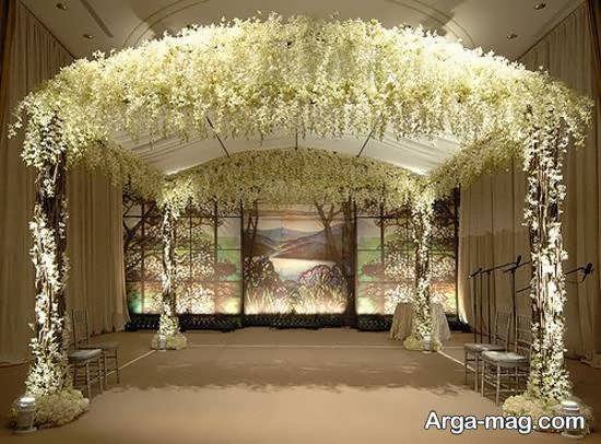 گالری زیبا و چشم نوازی از طراحی جایگاه مراسم ازدواج