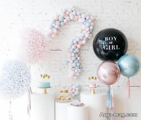 گالری زیبای تزیین جشن تعیین جنسیت بریا نوزاد
