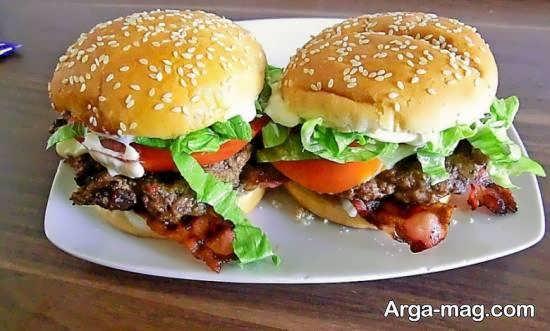 شیوه ی تهیه همبرگر بادمجان نوعی ساندویچ لذیذ
