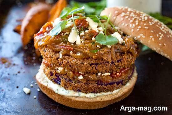 روش تهیه همبرگر بادمجان لذیذ و منحصر به فرد