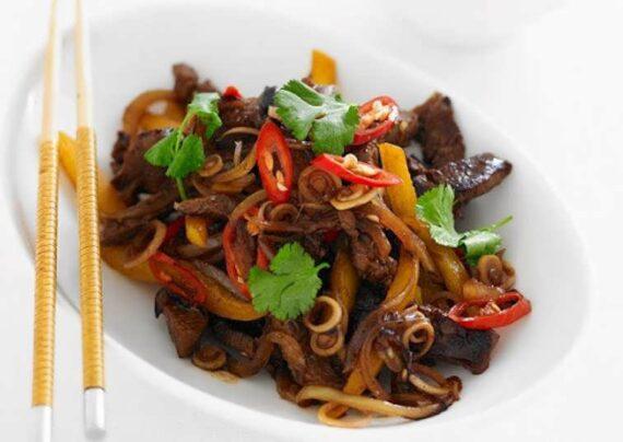 طرز تهیه خوراک گوشت چینی با طعمی ایده آل و دوست داشتنی