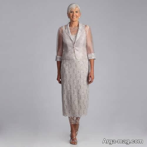 لباس مجلسی آستین دار برای مادر بزرگ ها