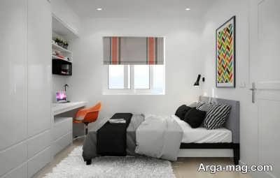 بزرگ نشان دادن اتاق خواب کوچک