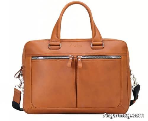 کیف چرم اداری رنگ روشن