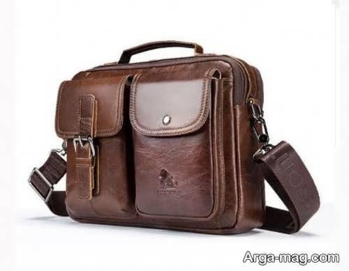 طرح کیف چرم مردانه