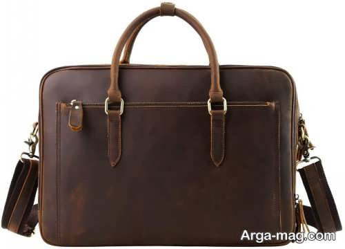 کیف چرم رنگ تیره