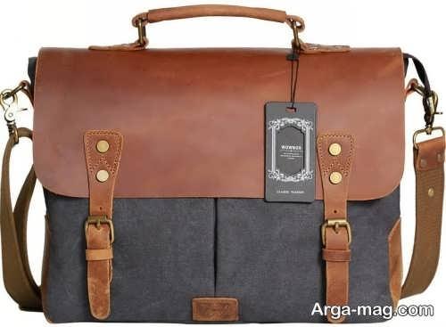 کیف چرم دو رنگ