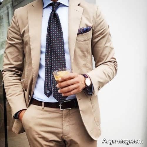 طرح کت و شلوار مردانه رنگ روشن