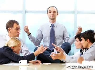 آرام ماندن در بحث و مشاجره
