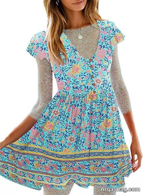 مدل لباس طرح دار تابستانه