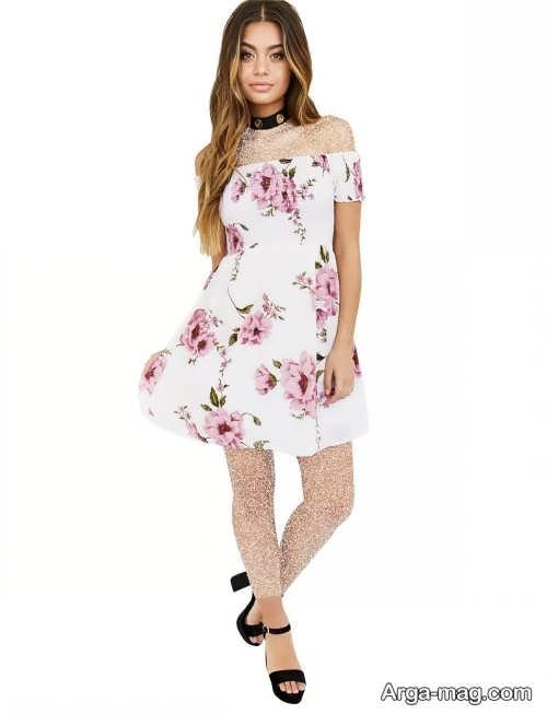 لباس طرح دار تابستانه