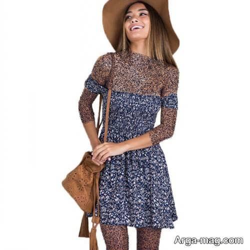 مدل لباس گلدار کوتاه