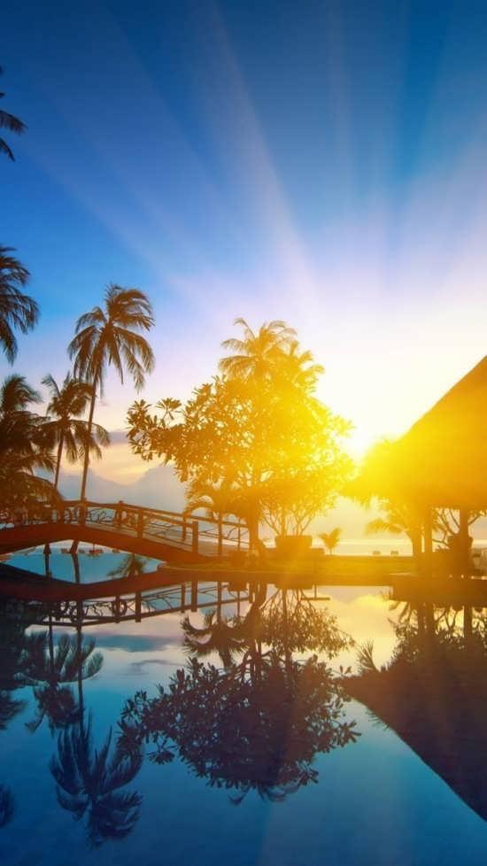 تصویر زیبا طلوع خورشید