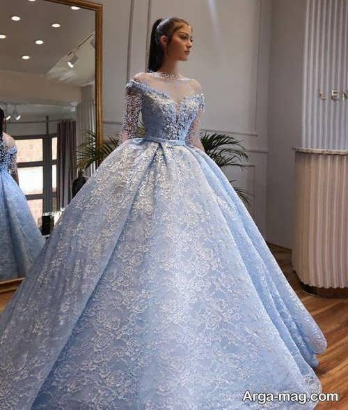 لباس عروس شیک آبی