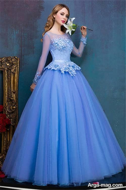 پیراهن عروس آبی