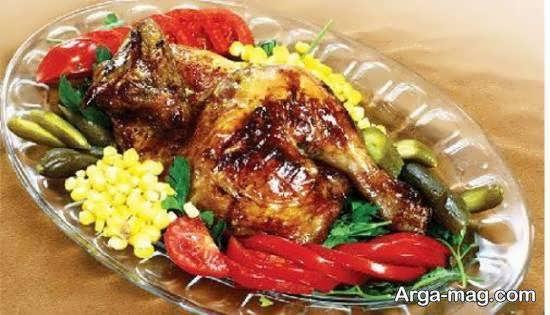 نمونه هایی شیک و مجلسی برای تزیین ظرف مرغ