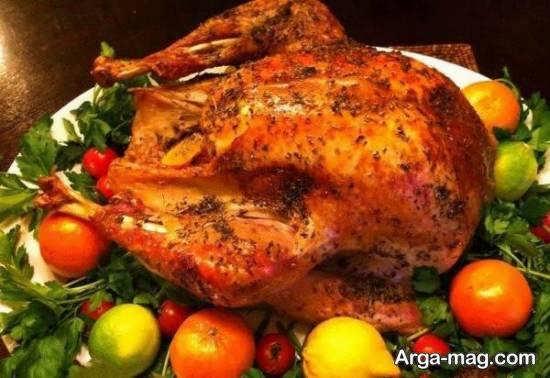 ایده هایی از دورچین مرغ برای زیباسازی غذا