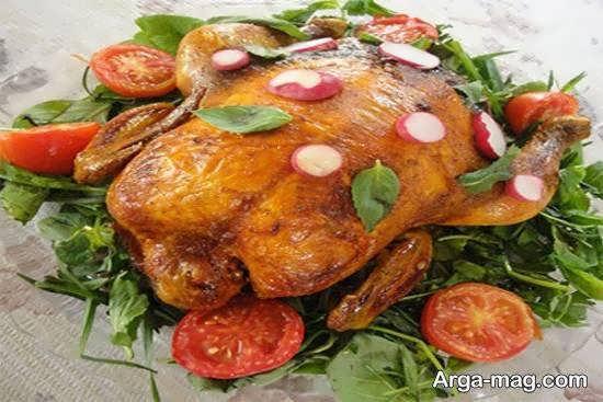 ایده هایی زیبا و منحصر به فرد از دورچین مرغ با استفاده از سبزیجات و میوه