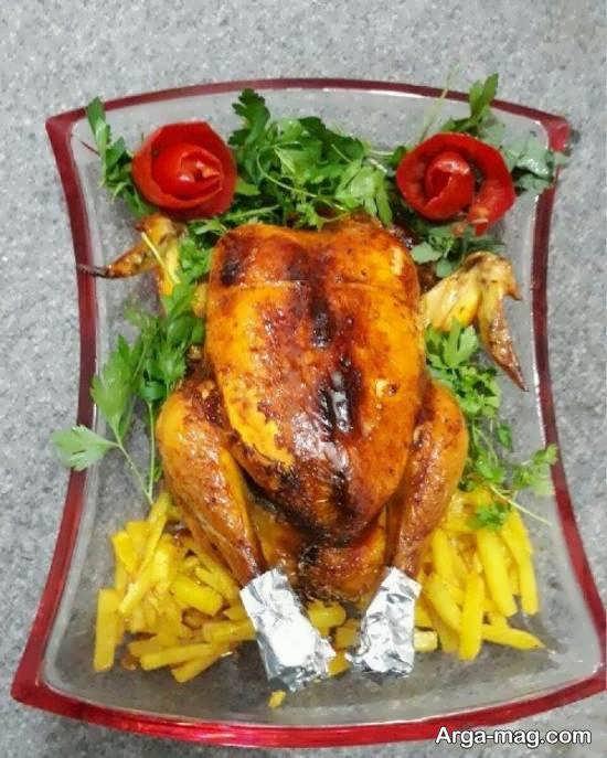 زیباسازی و تزیینات مرغ و غذا با میوه و سبزی