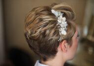 شینیون عروس با موی کوتاه