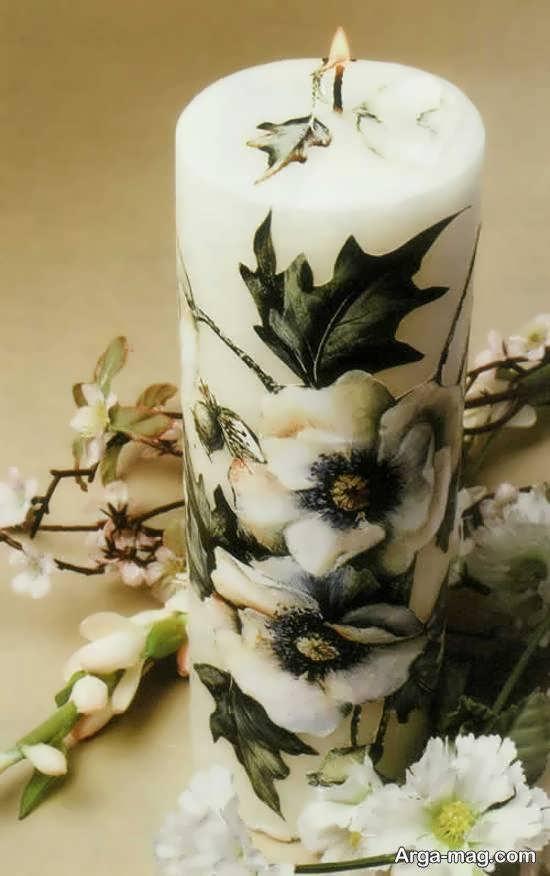 ایده هایی نو و جدید از زیباسازی شمع با دستمال کاغذی