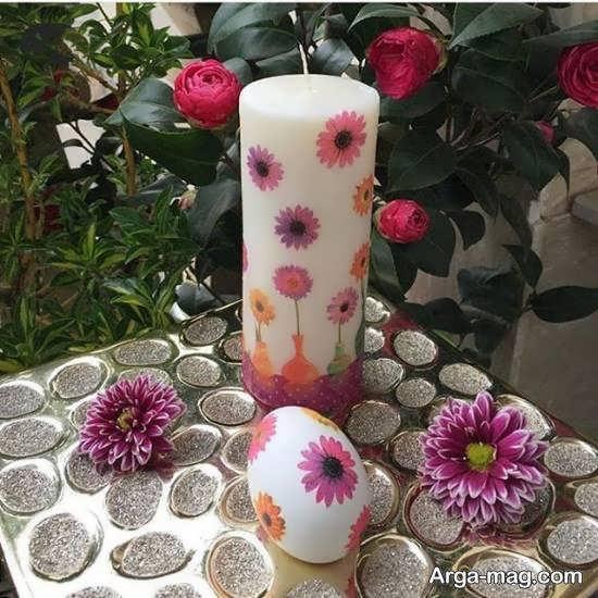 ایده هایی منحصر به فرد از تزیین شمع به وسیله ی دستمال کاغذی