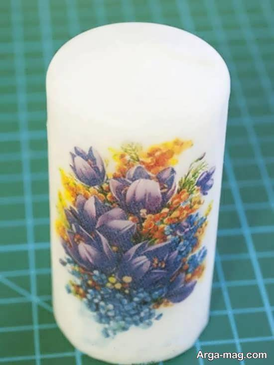 ایده هایی زیبا و شیک از تزیین شمع با دستمال کاغذی