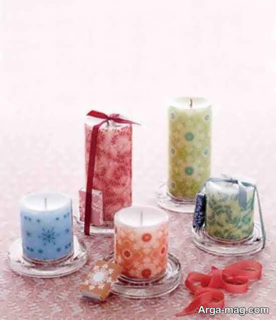 گالری زیبایی از ایده های زیباسازی و طراحی شمع با دستمال کاغذی