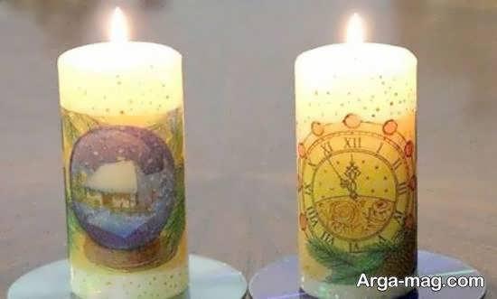 ایده هایی ایده آل و خواستنی از تزیینات شمع با دستمال کاغذی