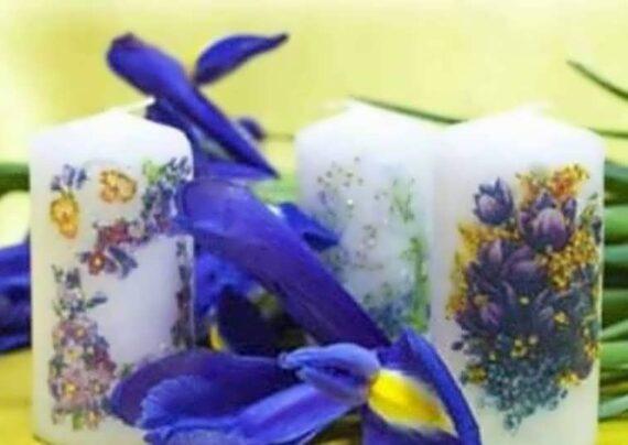 گالری شیک و لوکسی از تزیین شمع با دستمال کاغذی