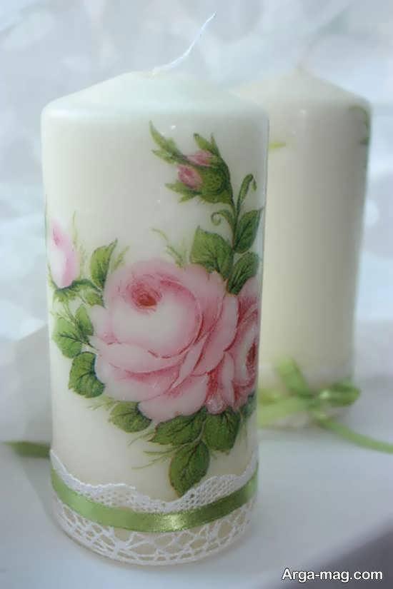 ایده هایی از تزیین شمع با دستمال کاغذی برای خانم های با سلیقه