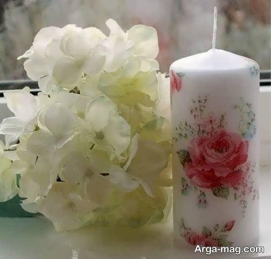 کلکسیونی از تزیینات شمع با دستمال کاغذی