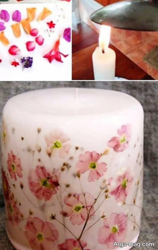 انواع ایده هایی تزیینات شمع با دستمال کاغذی