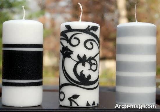 تزیین شمع با دستمال کاغذی به شکلی جذاب و زیبا