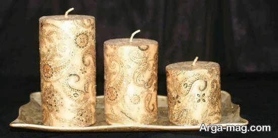 زیباسازی شمع با دستمال کاغذی برای خانم های خوش سلیقه