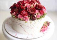گالری زیبا و شیکی از ایده های تزیین کیک با گل رز