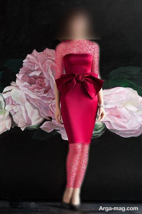 لباس کوتاه پاپیون دار