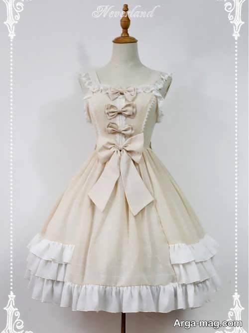 لباس رنگ روشن پاپیونی