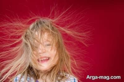 از بین بردن الکتریسیته مو