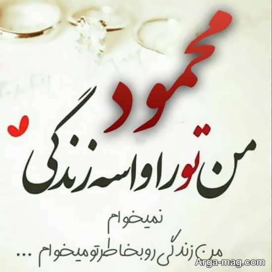 مجموعه ای دوست داشتنی از عکس پروفایل اسم محمود