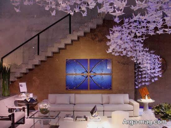 گالری شیک و متفاوتی از دکوراسیون به سبک اوریگامی