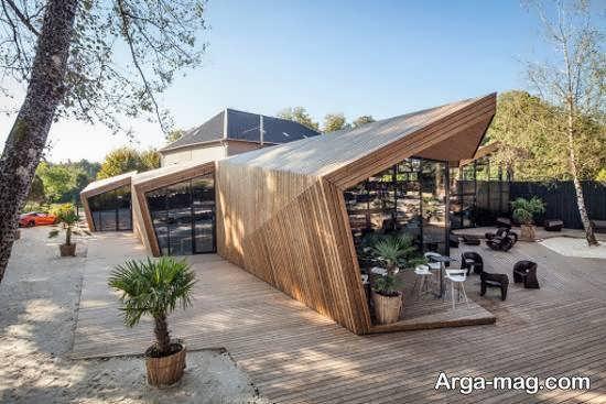 دکوراسیون منزل و رستوران به سبک مدرن اوریگامی