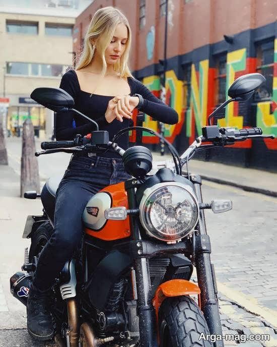 مجموعه ای زیبا و دوست داشتنی از ژست عکس با موتور برای عکاسی