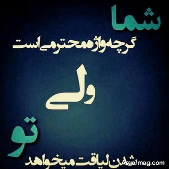 ایده هایی بینظیر و جذاب از عکس نوشته درباره شایستگی و سزاواری