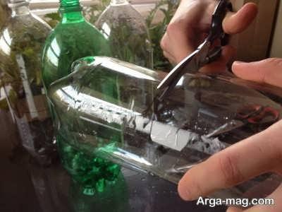 روش های کاشت گل در بطری نوشابه