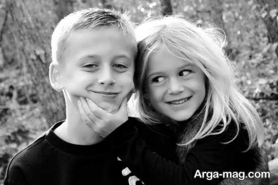انواع ژست عکس خواهر و برادر