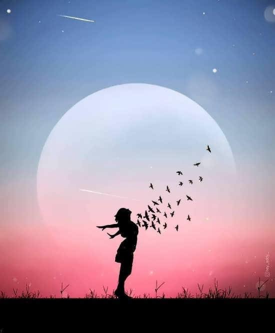 ایده هایی زیبا و فانتزی از عکس پروفایل آسمان دخترانه