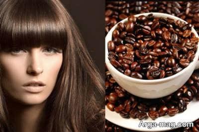 رنگ موی طبیعی با قهوه