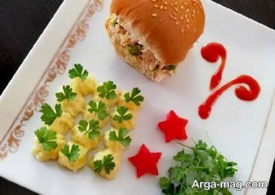 ساندویچ مرغ و سیب زمینی
